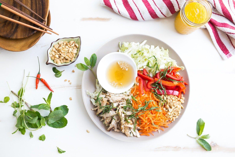 Vietnamese Salad with Chicken