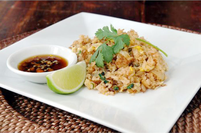 thai style rice with fresh crab meat