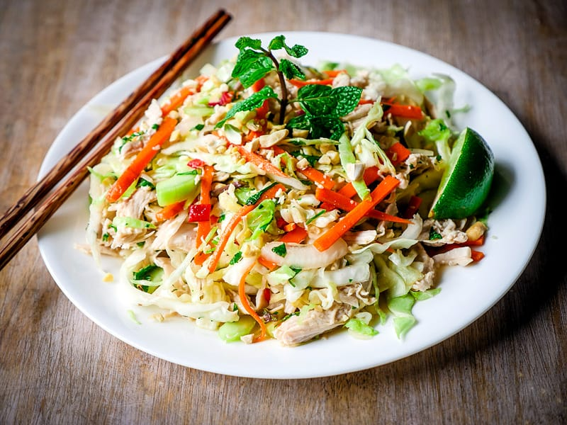 vietnamese salad with chicken one of best and fammous vietnamese dish in hong kong