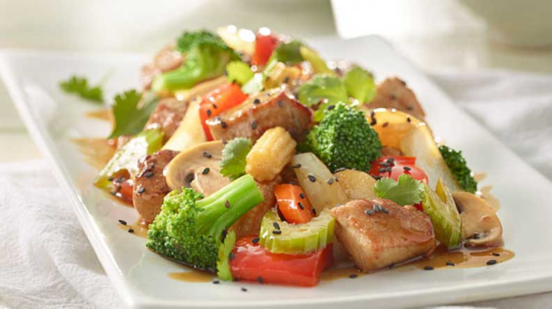 wok fried assorted mix vegetables