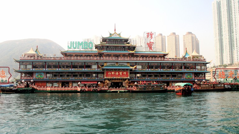 Jumbo Kingdom biggest floating sea food restaurant in hong kong