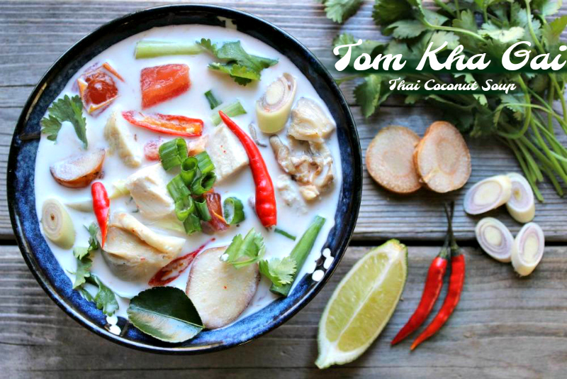 Tom Kha Kai thai cuisine soup
