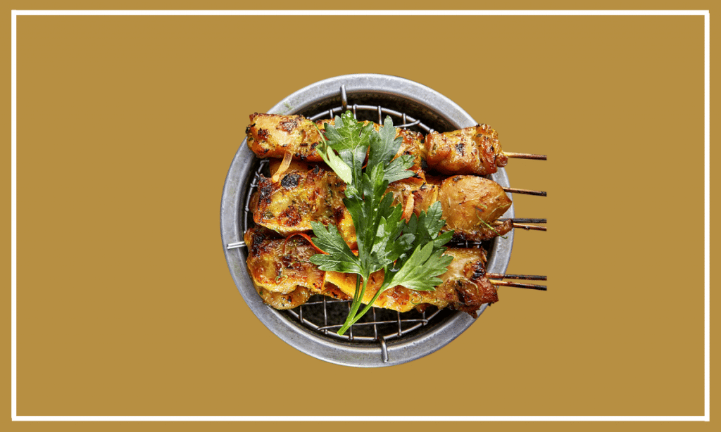 Assorted Satay Skewers with Chicken