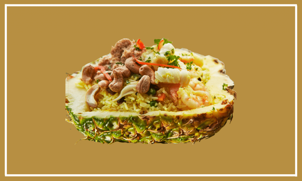Fried Rice with Pineapple Seafood