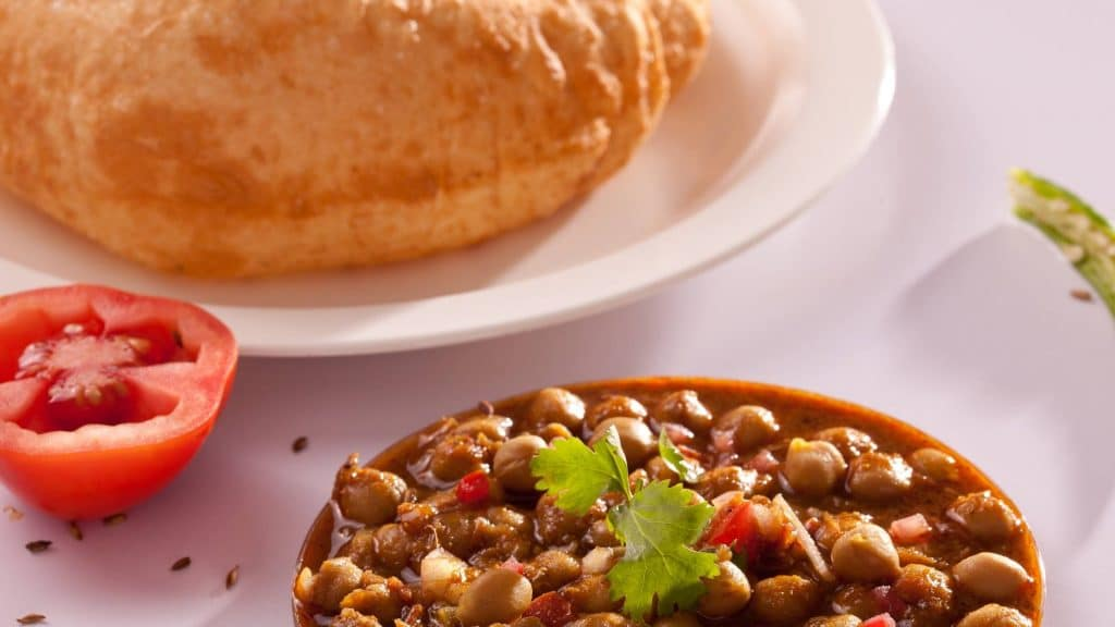 Chole BathurE is one famous indian vegetarian food in hong kong
