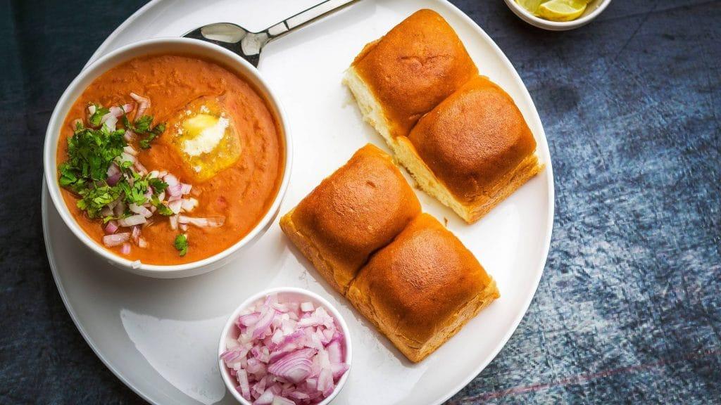 Pav Bhaji in indian vegetarian food in hong kong