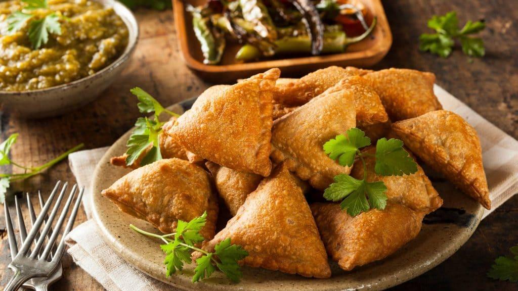 Vegetarian Samosa in hong kong