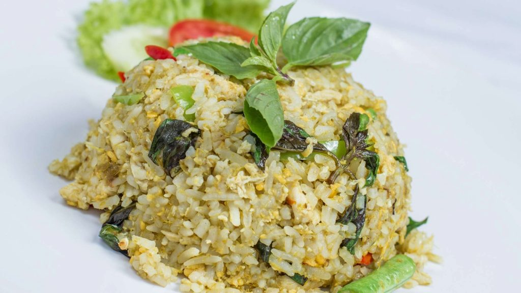 Green Curry Fried Rice with Vegetables hong kong