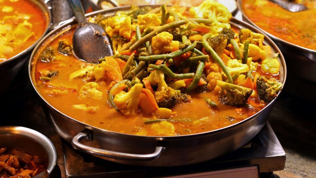 Mix Vegetable Curry one of famous Vegetarian thai food