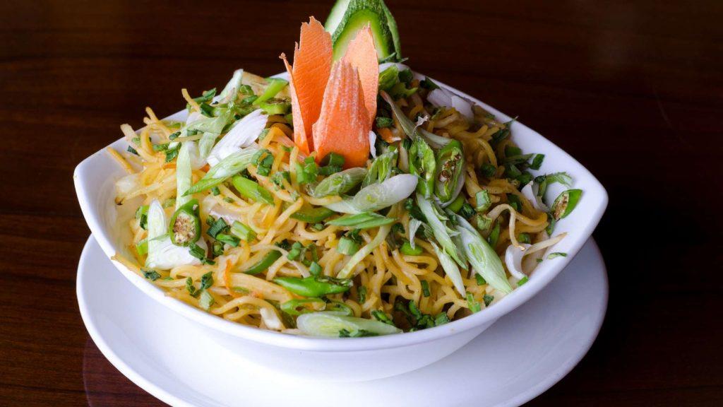 Wok Fried Noodles Vegetarian thai food in hong kong