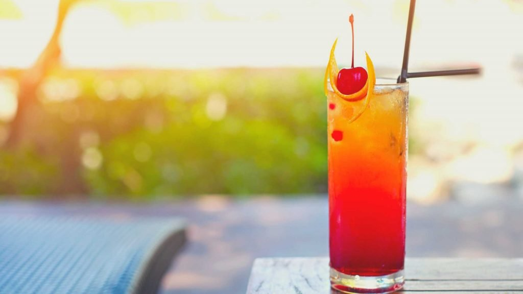 Tequila Sunrise is famous cocktail in hong kong