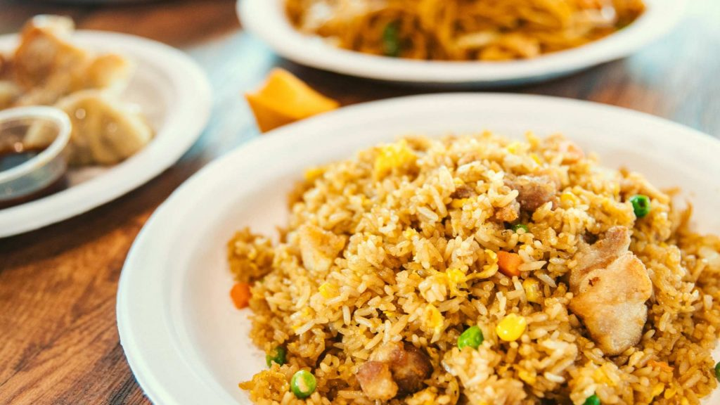 Thai rice with spicy minced meat