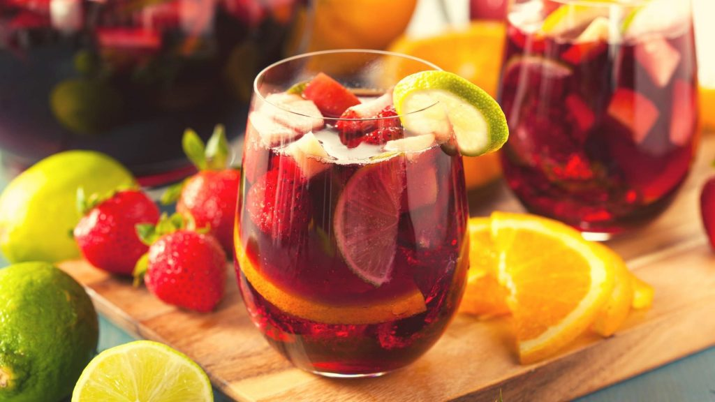 Sangria drinks